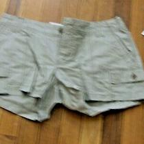 Nwt Women's Old Navy Khaki Cargo Shorts Size 8 Photo
