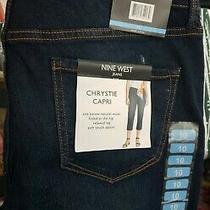 Nwt Womens Size 10 Nine West Blue Jeans Chrystie Capri Style Denim Mrsp 59 Photo