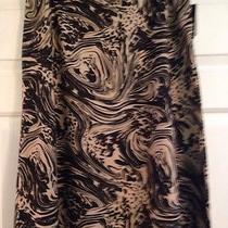 Nwt Women's Skirt. Size 14. Grace Elements. Brown Print Photo