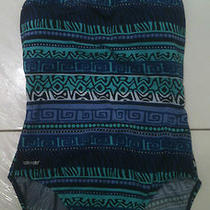 Nwt Women's Speedo Swimsuit Ultra Back Size 10 New Blue Aqua Violet Black Photo