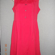 Nwt Women's Tommy Hilfiger  Foulard Red Dress Size 8 Msrp 78 Photo
