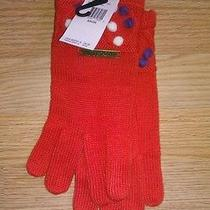 Nwt Women's Volcom Winter Weather Ski Gloves Orange/purple/white Bobblehead Photo