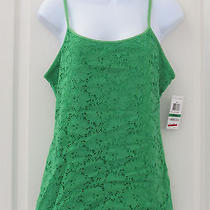 Nwt Women Style & Co. Tank Top From Macy's Green L Photo