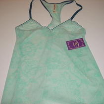 Nwt Womens 36 Lucky Brand Sheer Aqua Floral Print Sleep Cami Top Sz Xl X-Large Photo