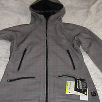 Nwt Womens Burton Softshell Size S Black White and Red Photo