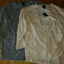 Nwt Womens Design History Cinch Up Sweater Shirt Top Blush Pink Blue M L Xl 2xl Photo