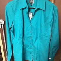 Nwt Womens Express Button Down Long Sleeve Shirt Size Large  Photo