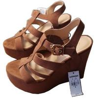 Nwt Womens Express Wedge Heeled Sandals Size 8 Retail 70 Photo