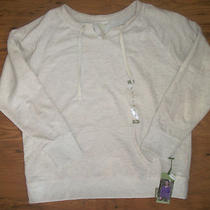Nwt Womens Green Tea Oatmeal Heather Cream Fleece Pullover Sweater Size Xl Photo