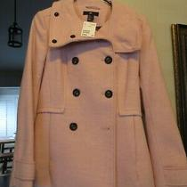 Nwt Womens h&m Blush Pink Peacoat Size 8 Photo