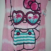 Nwt Womens Hello Kitty Sleep Shirt Dress Lounge Night Gown Pajama  L Xl (14-18) Photo