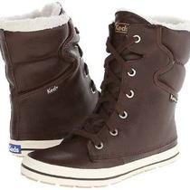 Nwt-Womens Keds Brown Droplet Leather Lined Faux Fur Lace Ankle Snow Boots- 9.5 Photo
