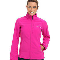 Nwt Womens M Columbia Prime Peak Softshell Windproof Jacket Groovy Pink Msrp 99 Photo