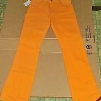 Nwt Womens Orange Guess Jeans Size 30 Boot Cut Measurements 34 X 34 Nice Photo