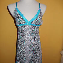 Nwt Womens Rampage Reptile Print Camisole Nighty Nightgown Medium Photo