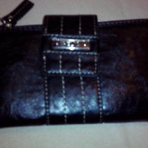 Nwt Womens Relic by Fossil Check Book Wallet Black  New Super Nice Photo