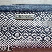 Nwt Womens Roxy Go on Faux Leather Zip Around Clutch Wallet Purse New Photo
