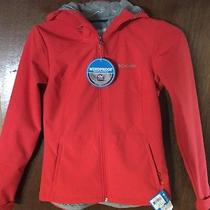 Nwt Womens S Columbia Alpine Fir Full Zip Softshell Hooded Jacket Omni Wind Red Photo