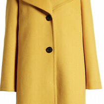 Nwt Womens Sam Edelman Single Breasted Wool Blend Coat Yellow Size 12 Photo