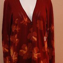 Nwt Womens Simply Vera Vera Wang Long Sleeve Printed Floral Sweater Size Xl Photo