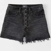 Nwt Womens Size 8 Abercrombie & Fitch Black Natural Rise Shorts Photo