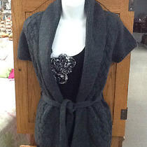 Nwt Womens Size Small Grey Aeropostale Knit Cardigan With Belt Photo