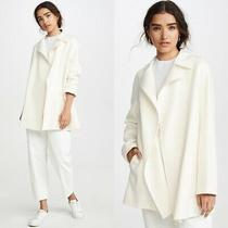 Nwt Womens Theory New Divide Luxe Wool Cashmere Coat Ivory Size Small 695 New Photo