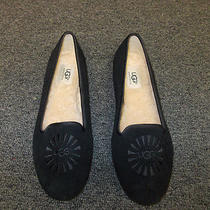 Nwt Womens Ugg Alloway Suede Flats Black Size 10 Photo