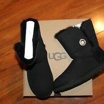 Nwt Womens Ugg Sz 7 Black Boots Bailey Button Bling Photo