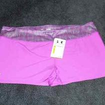 Nwt Womens Under Armour Heatgear Purple Compression Workout/bike Shorts - Sz Xl  Photo