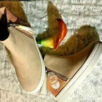 Nwt Wonder Nation Shoes Childrens  Sz  2 Blush Zipper Closure Flexible Outsole Photo