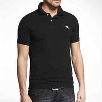 Nwt Xl Express Men's Modern Fit Small Lion Logo Pique Polo Shirt Black Photo