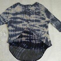 Nwt Yfb Young Fabulous & Broke S/m  Mixed Media Split Back Hi-Lo Hem Sweater Top Photo