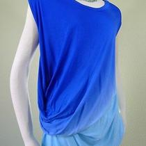 Nwt Yfb Young Fabulous & Broke Size M Blue Ombre Dye Tunic Top  Very Soft Photo