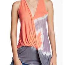 Nwt Young Fabulous & Broke Jemma Coral Tan Tie Dye Twisted Draped Tank topsz.m Photo