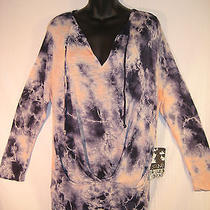 Nwt Young Fabulous & Broke Pink & Blue Tie Dye Xs (Fits Larger) Tunic Top Photo