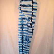 Nwt Young Fabulous & Broke Shades of Blue Long Maxi Tie Dye Skirt Medium Photo