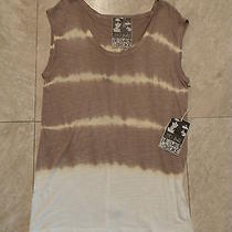 Nwt Young Fabulous & Broke Short Sleeve Tie Dye Top Yellow/gray Size S Photo