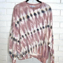 Nwt Young Fabulous & Broke Tie Dye Pullover Sweatshirt Pink White Small Photo