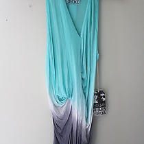 Nwt Young Fabulous & Broke Tunic Twisted Knit Draped Ombre Sleeveless Top L 156 Photo