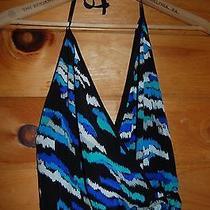 Nwt Yumi Kim 100% Silk Aqua Turquoise Ikat Print Jumpsuit Romper Size S Photo