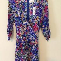 Nwt Yumi Kim Liz Romper Silk Blue Floral Small S Photo