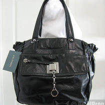 Nwt Zac Posen Chelsea Flamenco Secure Lock Glazed Black Leather Tote Tag Purse Photo