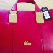 Nwt Zac Posen Danes Leather Satchel in Quartz Red Photo