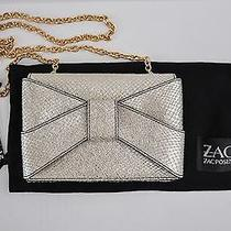 Nwt Zac Posen Shirley Bow Bracelet Clutch Gold Leather 295 Photo