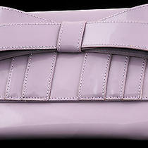 Nwt Zac Posen Shirley Bow Patent Leather Travel Case Clutch Ultraviolet New 125 Photo