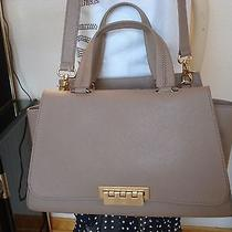 Nwt Zac Zac Posen  Eartha Double Handle Saffiano Leather Satchelbeige  550 Photo