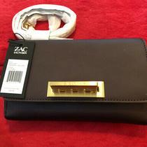 Nwt Zac Zac Posen Eartha Eggplant Wallet on a Chain Crossbody Photo