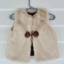 Nwt Zara Baby Collection Blush Faux Fur Baby Girl Vest Size 6-9 Mo. Photo