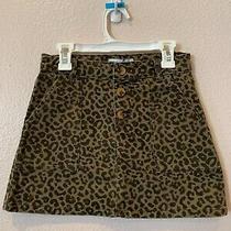 Nwt Zara Kids Girls Animal Print Denim Mini Skirt Size 10 Photo